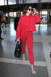 Selena Gomez Airport Style - LAX in Los Angeles 3/7/2016
