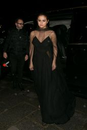 Selena Gomez - Arriving at the Louis Vuitton Dinner Party in Paris 3/9/2016