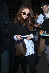 Selena Gomez at LAX Airport in LA, 3/11/2016