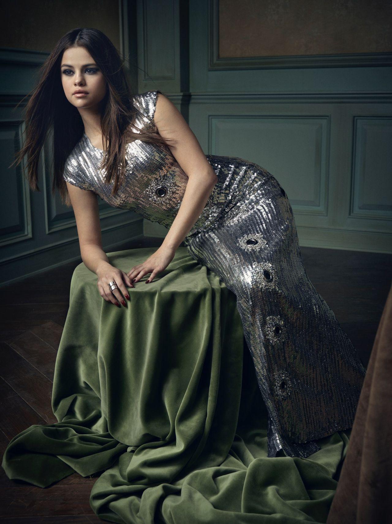 Selena Gomez 2016 Vanity Fair Oscar Party Portrait Celebmafia