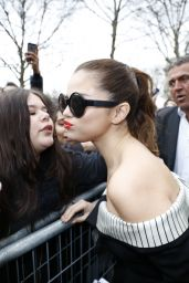 Selena Gomez - Visits NRJ Radio Station in Paris 3/10/2016