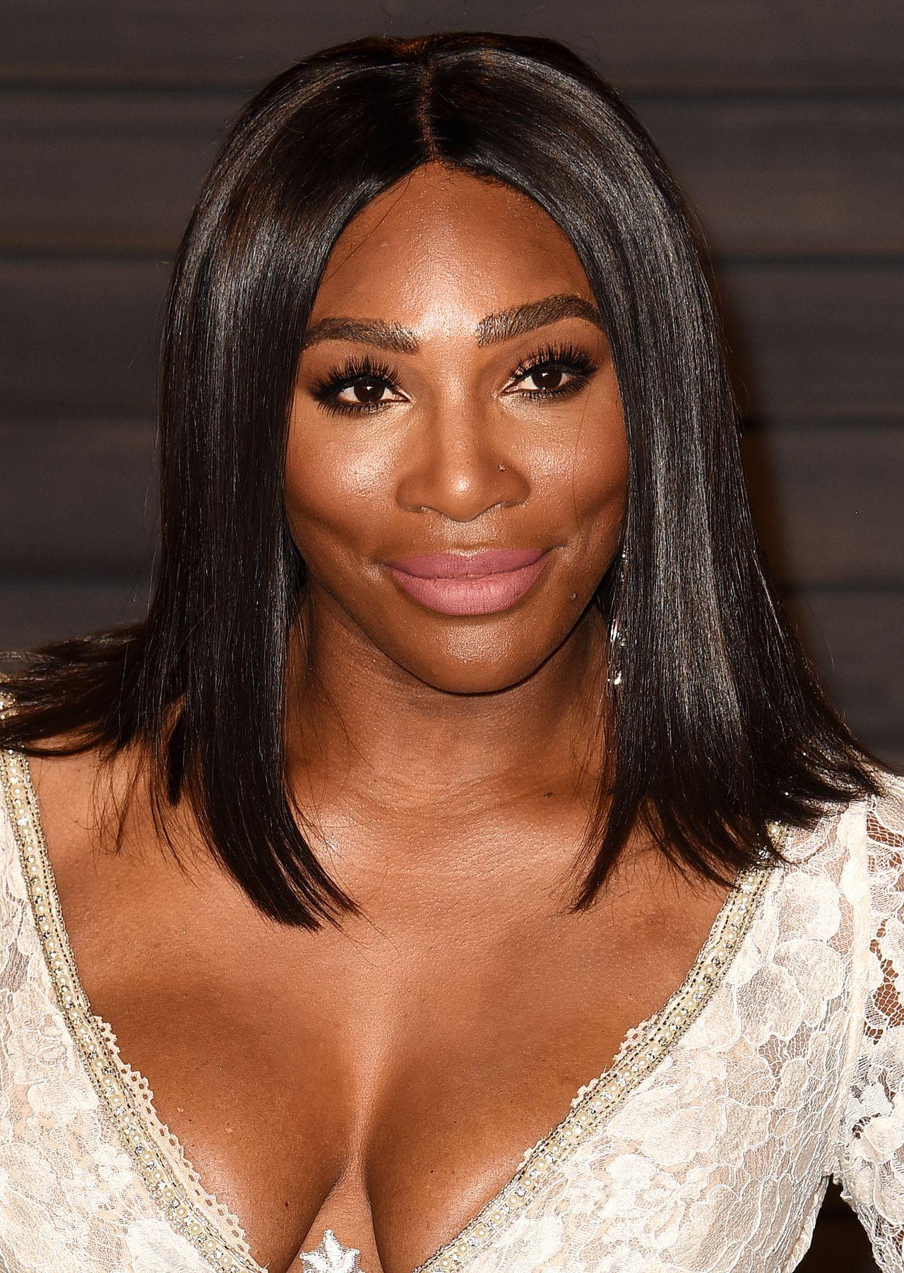 Serena Williams 2016 Vanity Fair Oscar Party In Beverly