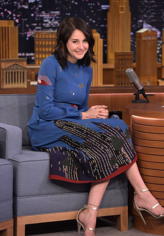 Shailene Woodley - The Tonight Show Starring Jimmy Fallon in New York City, NY 3/14/2016