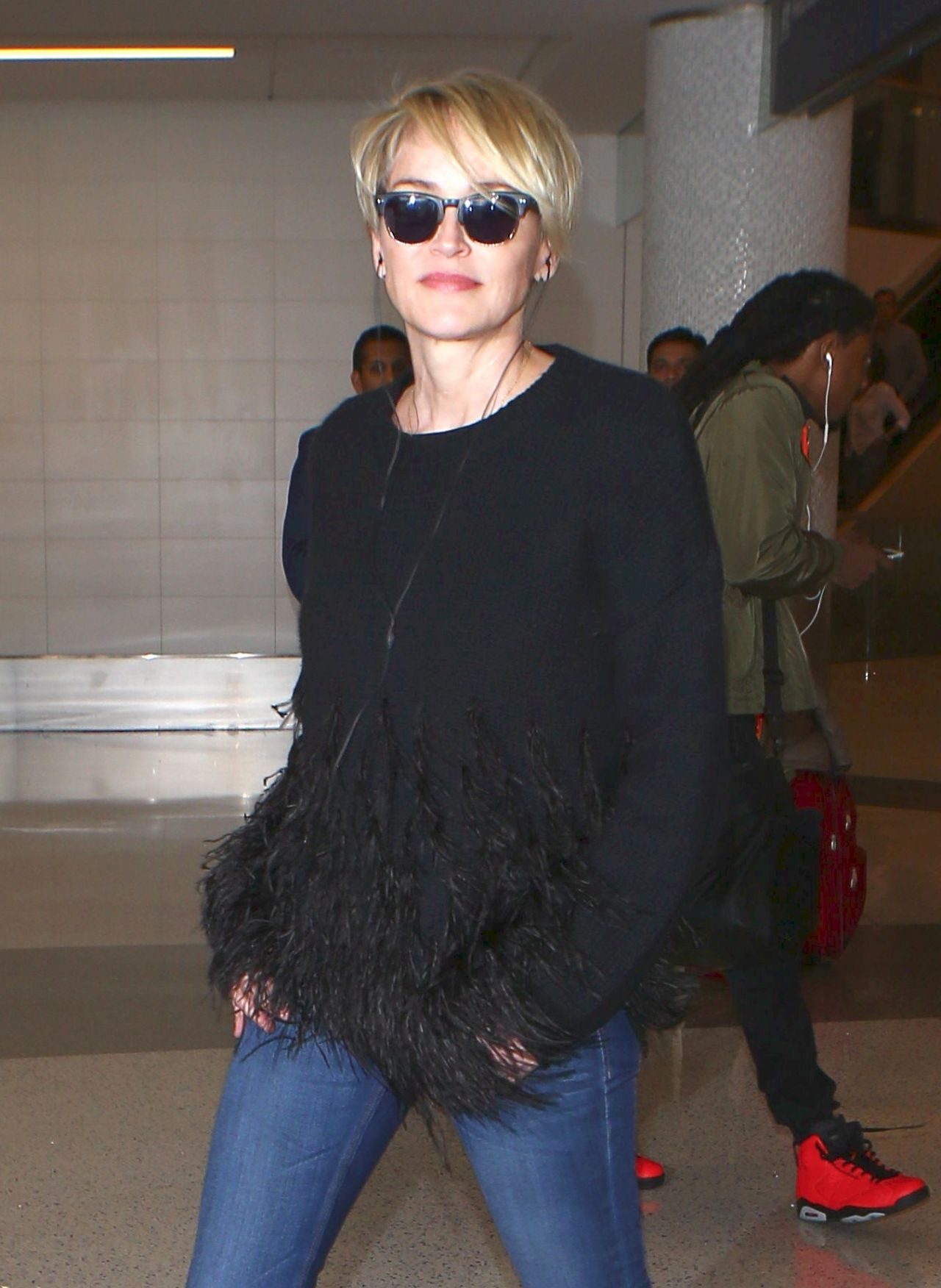 Sharon Stone Arrives At Lax In Los Angeles Ca 3 15 2016