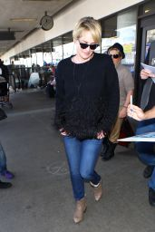 Sharon Stone Arrives at LAX in Los Angeles, CA 3/15/2016