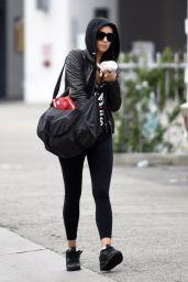 Shay Mitchell in Tights - Leaving the Gym in Los Angeles, CA 3/5/2016