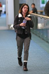 Shenae Grimes and husband Josh Beech - Airport in Vancouver 3/27/2016