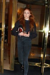 Sophie Turner - Leaving Her Hotel in Paris, March 2016