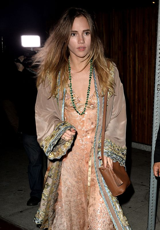 Suki Waterhouse Night Out Style - Leaving The Nice Guy in Los Angeles, CA March 2016