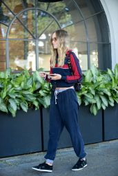 Suki Waterhouse Street Style - Leaves Meche Salon in Beverly Hills, March 2016