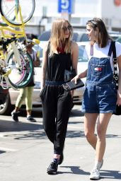 Suki Waterhouse - Takes a Break With Her Model Partner Eva Dolezalova From a Fashion Shoot, Los Angeles 3/28/2016