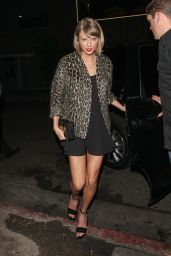 Taylor Swift Night Out Style - Leaving Roku Sunset Restaurant in West Hollywood 3/25/2016