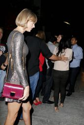Taylor Swift Night Out Style - Leaving Spago Restaurant in Beverly Hills 3/18/2016