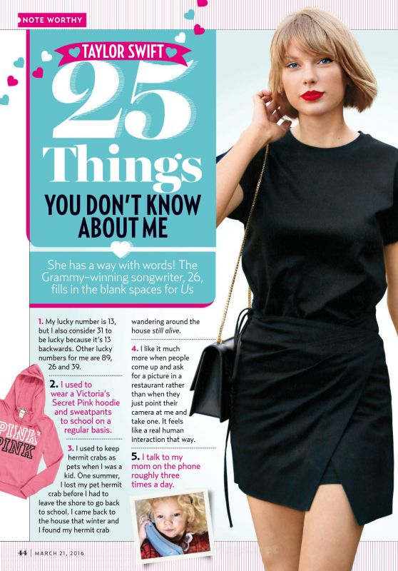 Taylor Swift - Us Weekly Magazine March 21st 2016