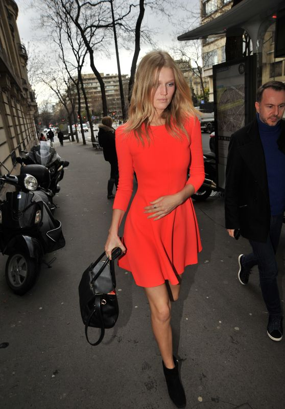 Toni Garrn - Heading to Elie Saab Show in Paris, 3/4/2016