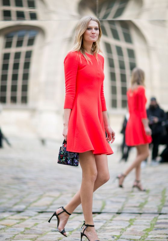 Toni Garrn - Streetstyle Photoshoot in Paris, March 2016