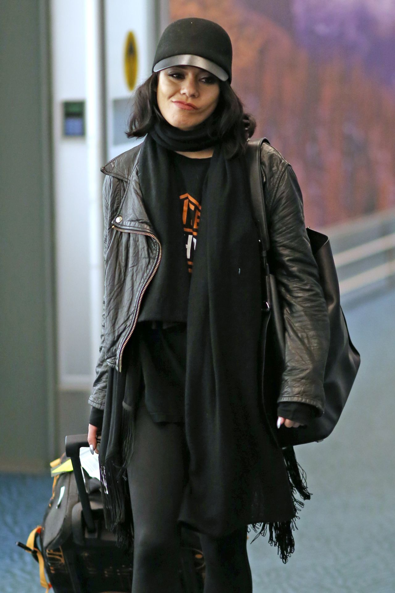 Vanessa Hudgens Airport Style Vancouver International Airport 2 29 2016