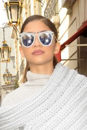 Zendaya Fashion - Leaving Her Hotel in Paris 3/8/2016
