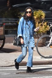 Zoë Kravitz in Jeans - Out in New York City 3/17/2016