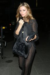 Abbey Clancy - Leaving the Mondrian Hotel After a Model Agency Party - London 4/21/2016