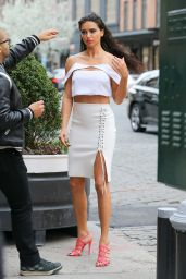 Adriana Lima - Photoshoot Set in New York City 4/1/2016