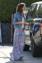Alessandra Ambrosio at a Gas Station in Los Angeles 4/19/2016