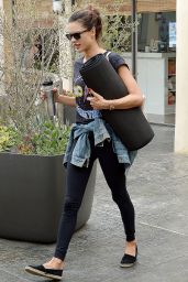 Alessandra Ambrosio - Leaving Yoga Classes in Brentwood 4/8/2016