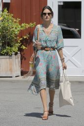 Alessandra Ambrosio Spring Ideas - at the Brentwood Country Mart 4/22/2016