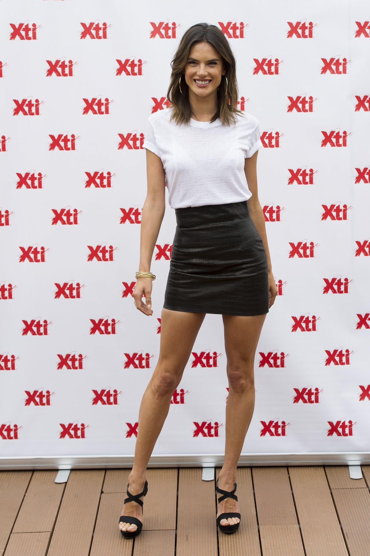 Alessandra Ambrosio Wearing a Miniskirt - Presents 'Xti' New ...
