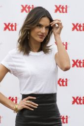 Alessandra Ambrosio Wearing a Miniskirt - Presents