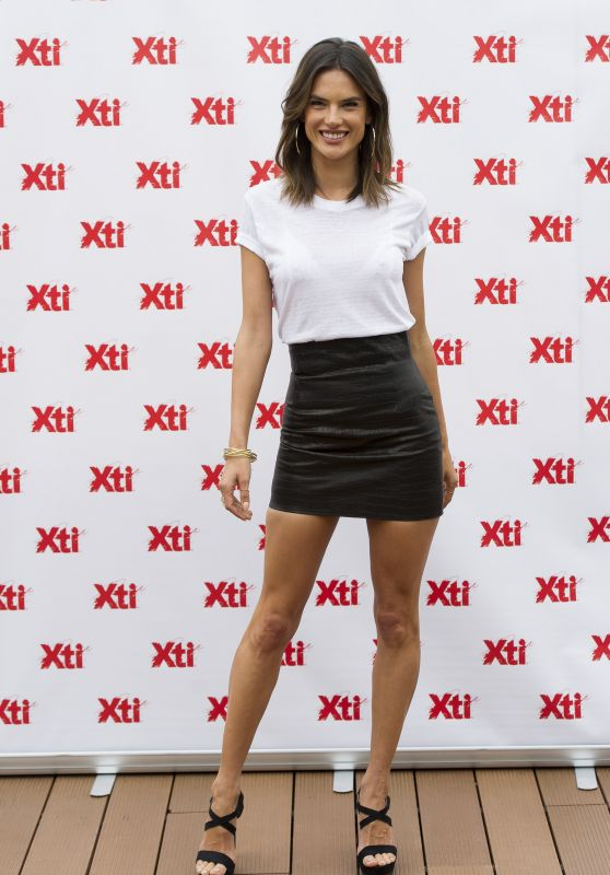 Alessandra Ambrosio Wearing a Miniskirt - Presents 'Xti' New Collection in Madrid 04/29/2016