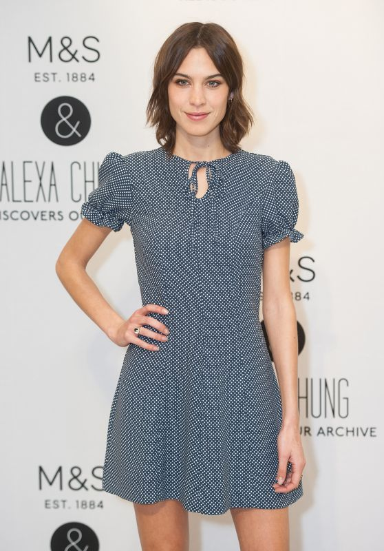Alexa Chung - Archive by Alexa Launch in London, April 2016