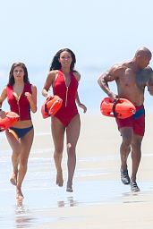 Alexandra Daddario, Kelly Rohrbach and Ilfenesh Hadera on the Set of