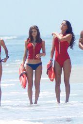 Alexandra Daddario, Kelly Rohrbach and Ilfenesh Hadera on the Set of