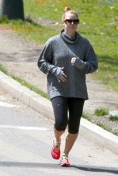 Amy Adams in Leggings - Out for a Jog in New York City 4/26/2016