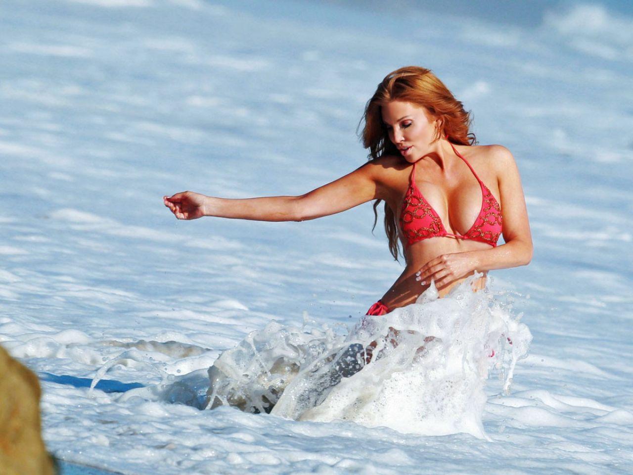 Angelica Bridges Baywatch Themed 138 Water Photo Shoot