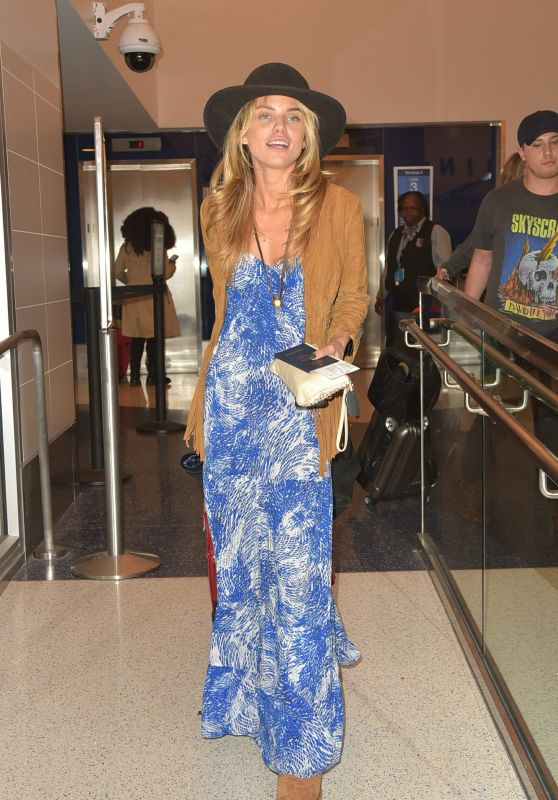 AnnaLynne McCord at LAX Airport in Los Angeles, April 2016