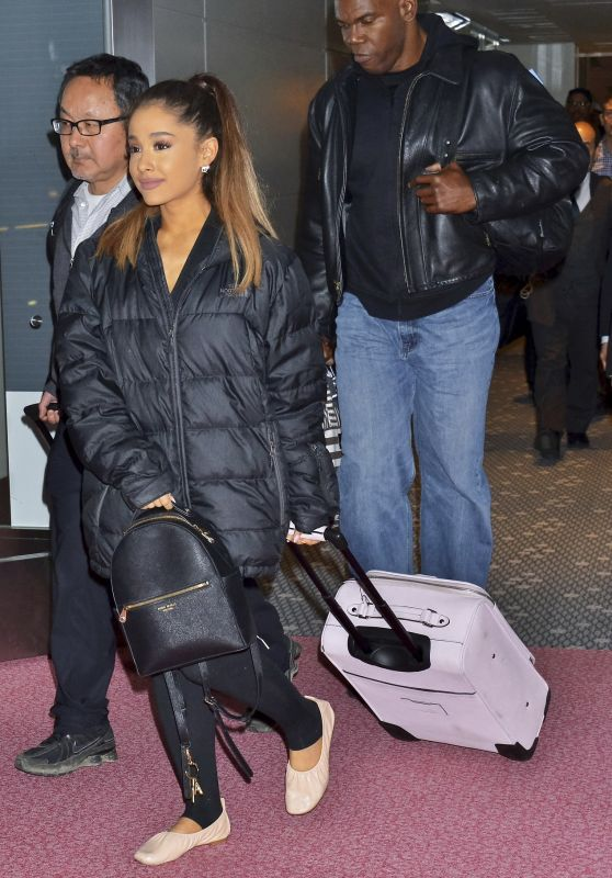 Ariana Grande and Her Boyfriend Ricky Alvarez - Tokyo International Airport 4/11/2016