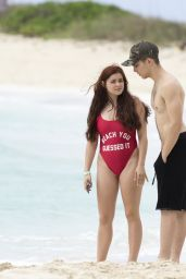 Ariel Winter in a Red Swimsuit - Bahamas 4/6/2016