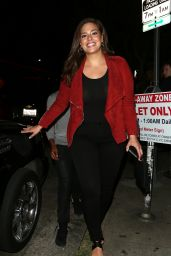 Ashley Graham Night Out Style - at El Compadre in Los Angeles 4/6/2016
