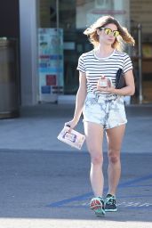 Ashley Greene Leggy in Shorts - Out in LA 4/12/2016
