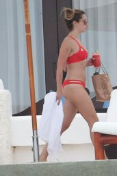 Ashley Tisdale in a Red Bikini in Cabo San Lucas 4/22/2016