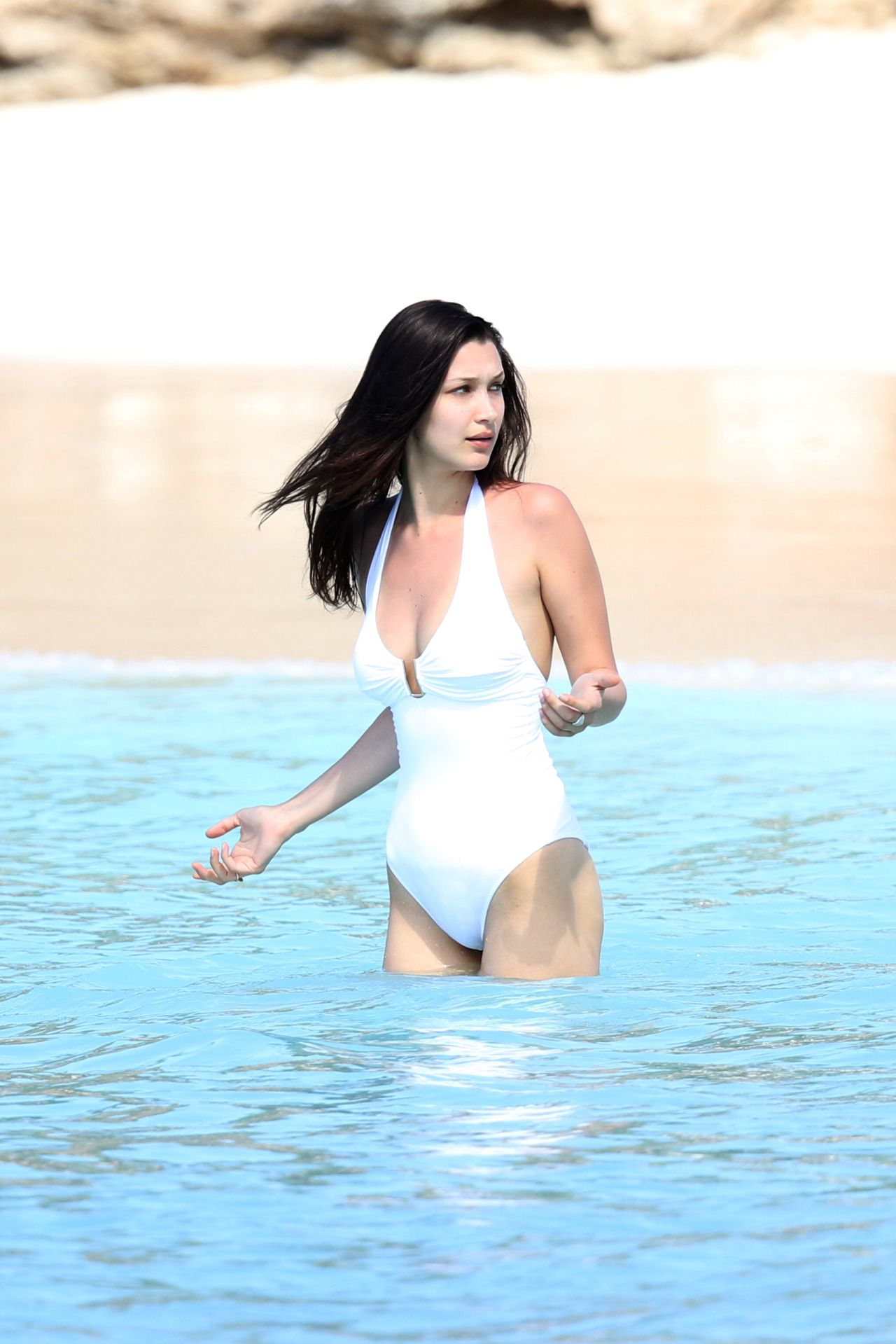 Bella Hadid In A Swimsuit Beach In St Barts 4 2 2016