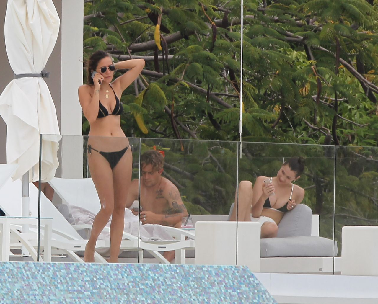 Bella Hadid In Bikini At A Pool In St Barts 4 1 2016