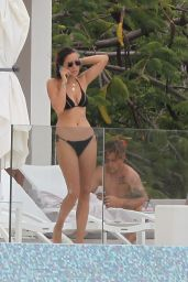 Bella Hadid in Bikini at a Pool in St Barts 4/1/2016