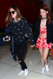 Bella Thorne and Dani Thorne at LAX Airport in Los Angeles 4/8/2016