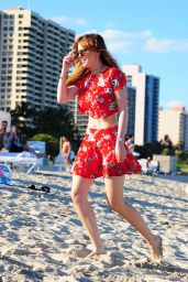 Bella Thorne at a Beach in Miami 4/7/2016