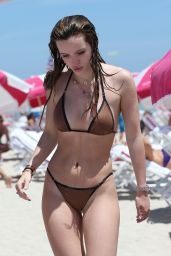 Bella Thorne Hot in Bikini - Beach in Miami 4/8/2016