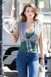 Bella Thorne in Tight Jeans - On the Set of