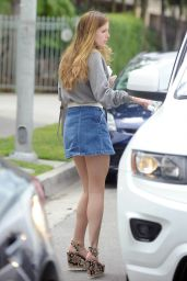 Bella Thorne Leggy in Mini Skirt - Out in Los Angeles 4/10/2016